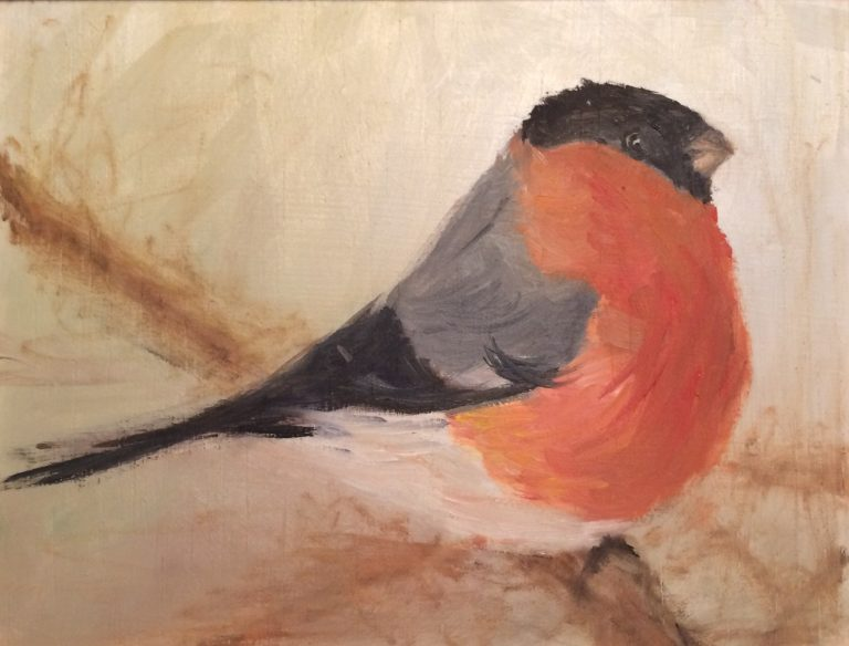Maleri af Lis Kjærgaard - olie på træ - 15 x 19