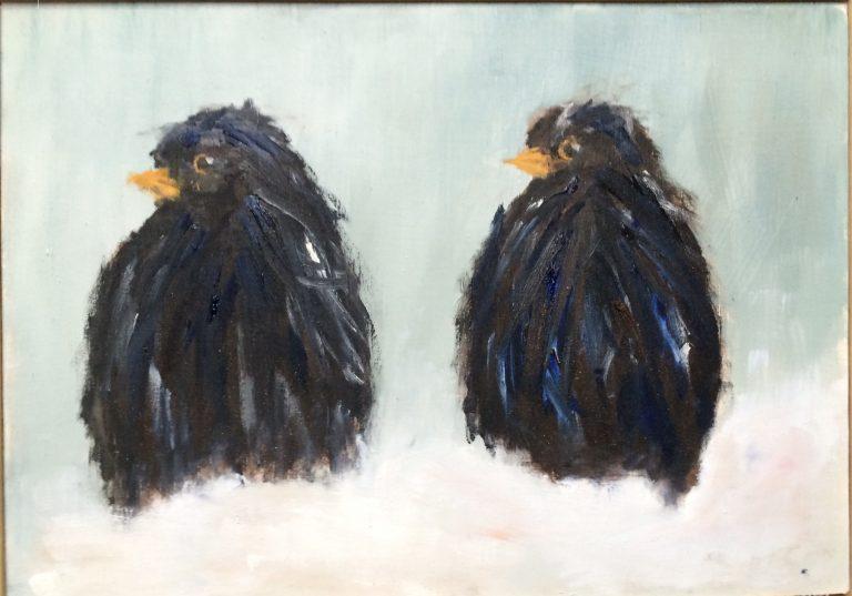 Maleri af Lis Kjærgaard - olie på lærred - 16 x 21