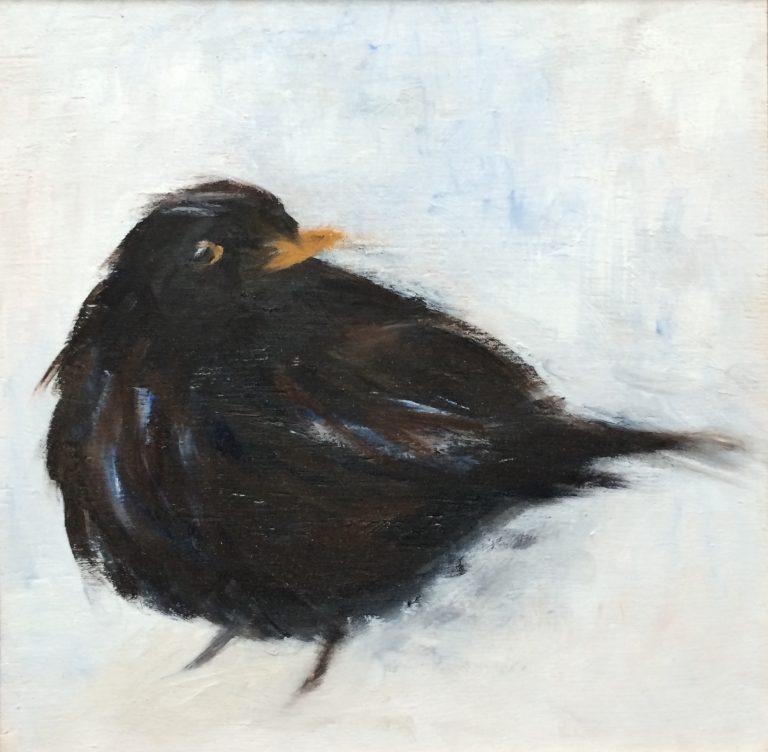Maleri af Lis Kjærgaard - olie på træ - 16 x 16