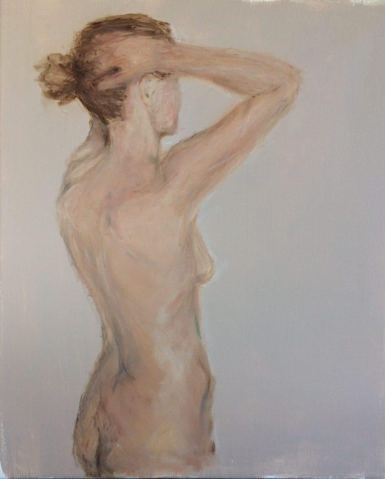 Maleri af Lis Kjærgaard - olie på lærred - 60 x 50