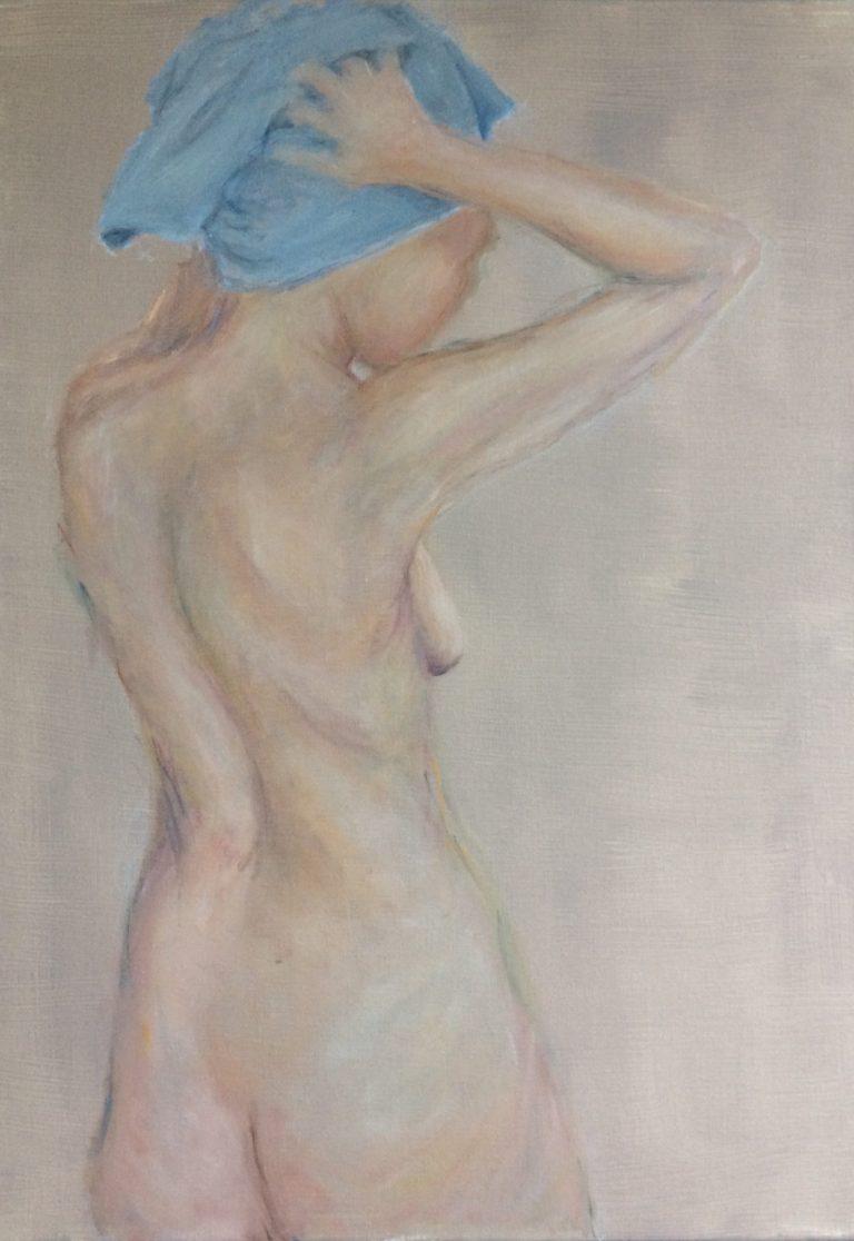 Maleri af Lis Kjærgaard - olie på lærred- 70 x 50