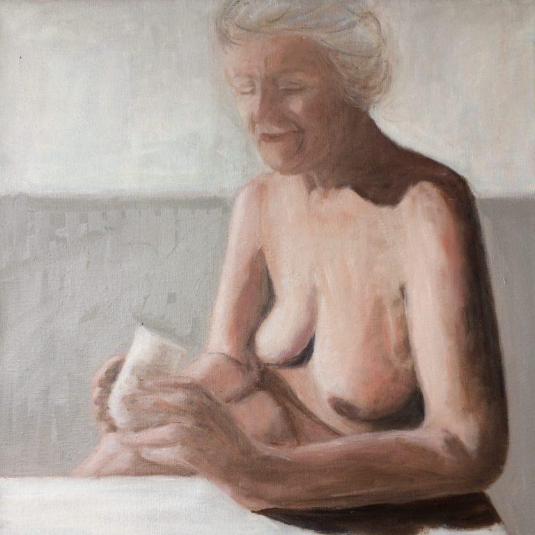 Maleri af Lis Kjærgaard - olie på lærred - 40 x 40