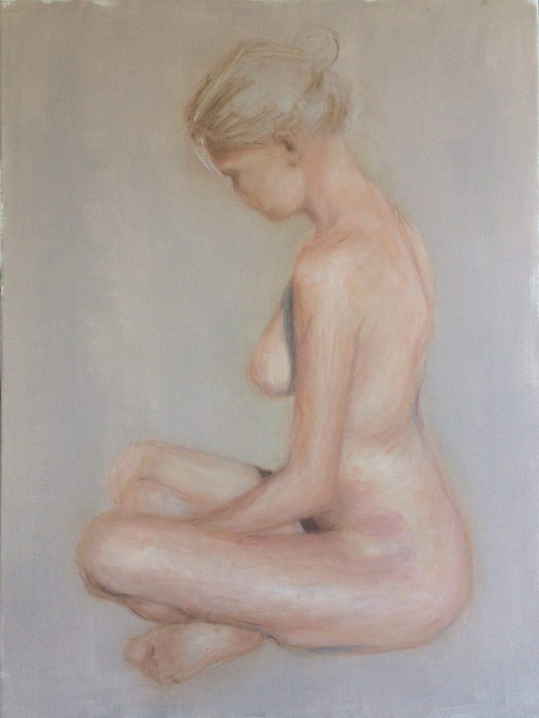 Maleri af Lis Kjærgaard - olie på lærred - 80 x 60