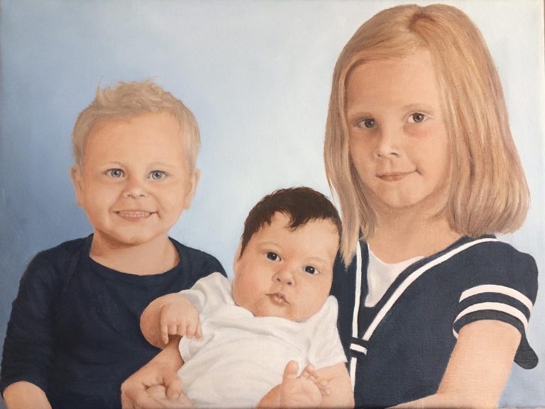 Elias, Emma og Isabella - 45 x 60
